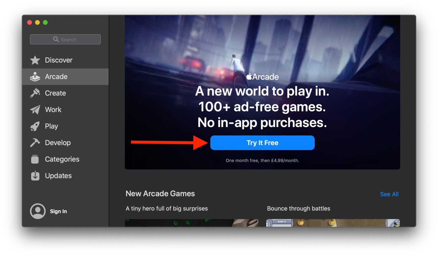 How to Sign Up for Apple Arcade on Mac