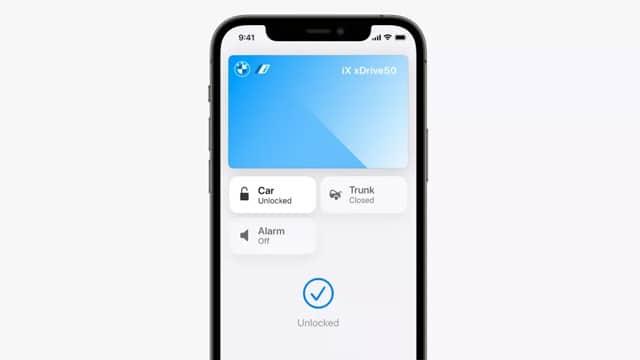 Apple Wallet giúp người dùng mở khóa và cốp xe
