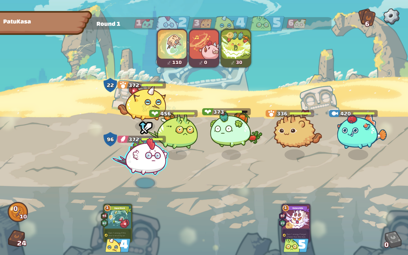 Axie Infinity sees you collect cute monsters to battle with. Image: Axie Infinity