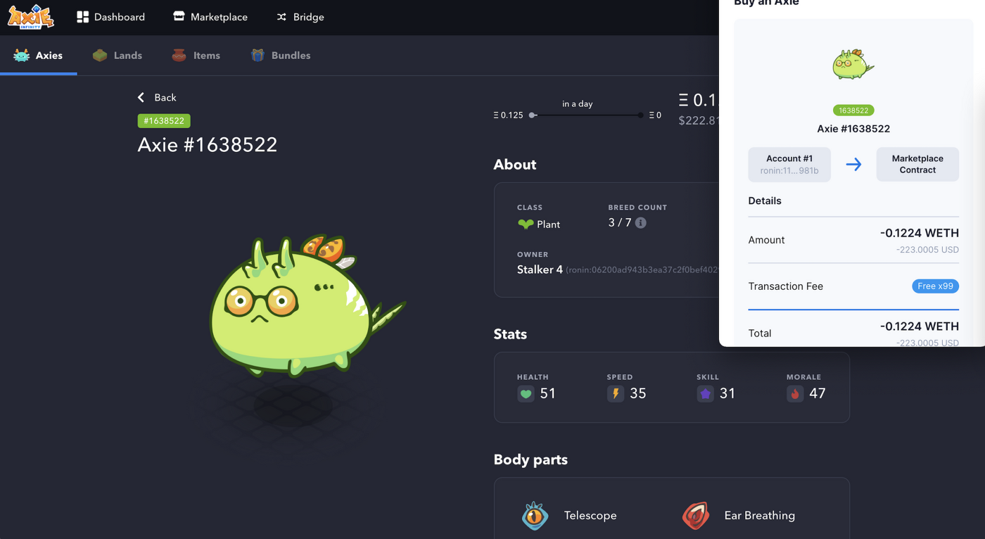 You'll need to buy three Axies to get started. Image: Axie Infinity